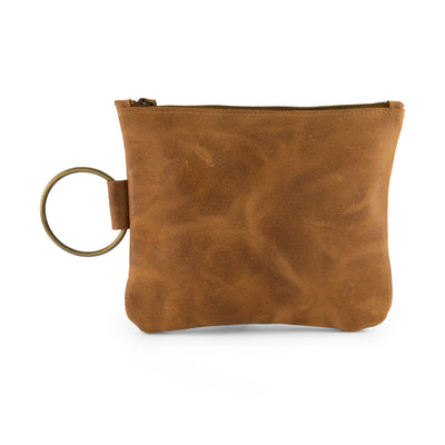leather wristlet clutch bag, clutch purse, evening bag, small leather bag, leather purse ||Brown||