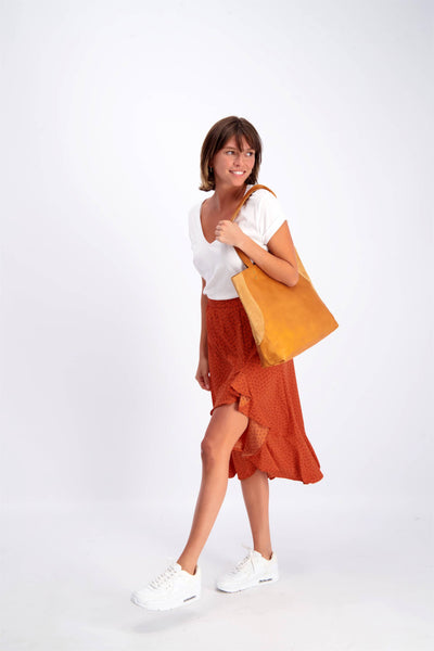 Camel Leather Tote, Soft Leather Bag, Tote Bag, Women Bag, Caramel Leather Bag, Shoulder Bag, CARAMEL BROWN