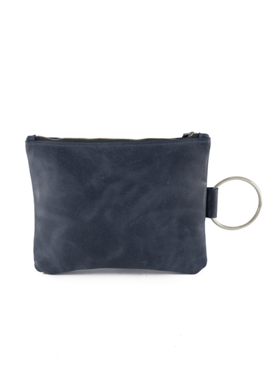 navy Leather Clutch, Leather Wristlet, Leather Clutch with Bracelet Handle, Soft Leather, Clutch Purse, Evening Bag, Wristlet Leather Bag ||Navy||