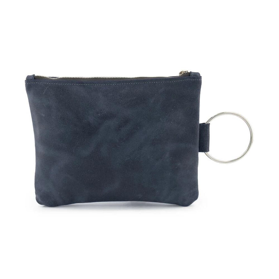 Navy Leather Clutch, Leather Wristlet, Leather Clutch with Bracelet Handle, Soft Leather, Clutch Purse, Evening Bag, Wristlet Leather Bag