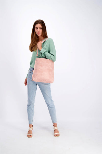 Leather Tote Bag, Convertible Bag, Leather Bag, Leather Zipper Tote Bag, Fold over Crossbody Bag, Woman Leather Purse, Leather Purse, Leather Pouch, woman's Bag, Woman's Purse, Handmade Bag, Leather Purse, Leather Tote, Multi-Purpose Bag, Leather Tote With Zipper , Pink Leather Bag, ||Pink||