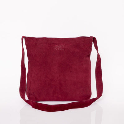 plum leather bag, suede bag, crossbody leather, maykobags, crossbody leather bag, crossbody leather