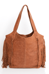 woman leather bag, tote bag, shoulder bag, leather tote, leather tote bag, soft leather bag, women leather bag, handbag, leather purse, work bag, office bag, fringe bag, bohemian bag, bohemian chic, Caramel leather bag, ||Caramel||