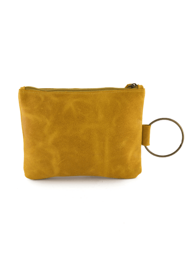 yellow Leather Clutch, Leather Wristlet, Leather Clutch with Bracelet Handle, Soft Leather, Clutch Purse, Evening Bag, Wristlet Leather Bag ||Mustard||