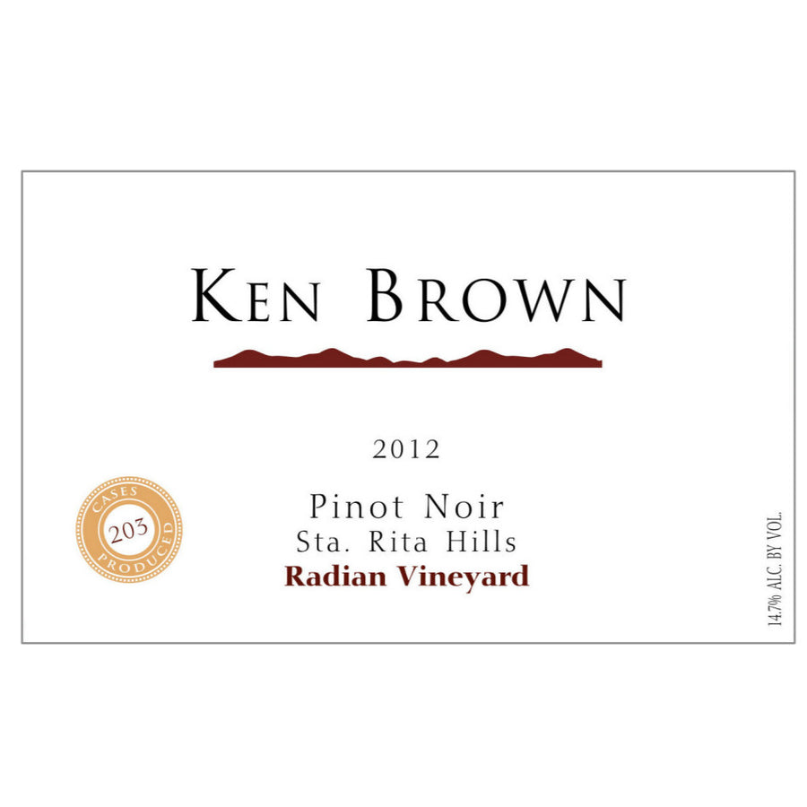 2012 Ken Brown Radian Vineyard Pinot Noir, Sta Rita Hills, USA