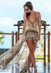 Camilla Girl in the Garden Overlay Playsuit