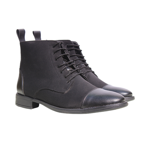 Black High Ankle Military Boots