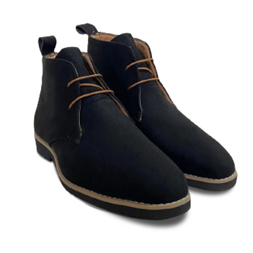 Black Suede Low Ankle Chukka Boots