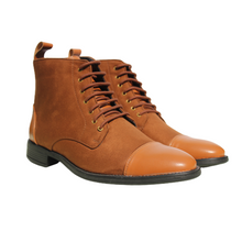 Tan High Ankle Military Boots