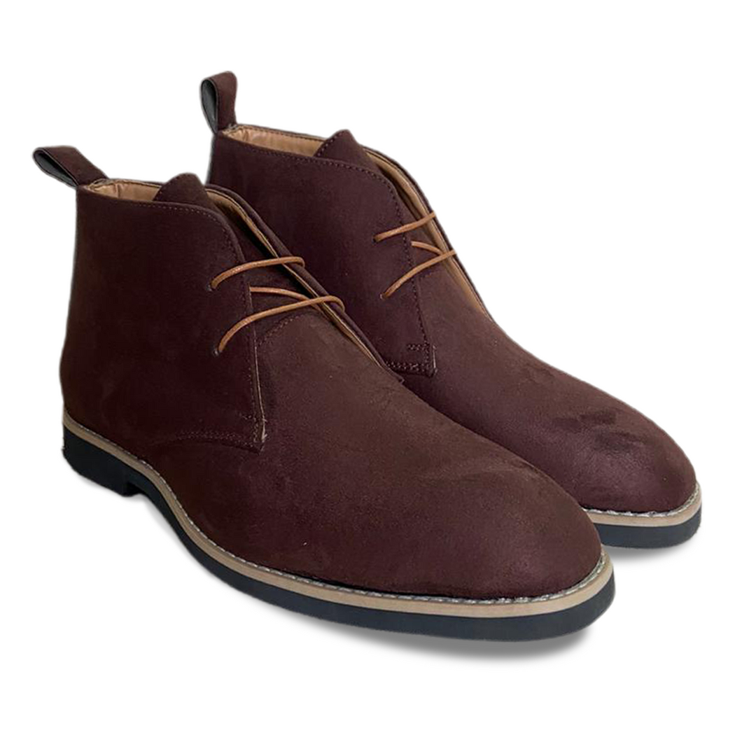 Dark Brown Suede Low Ankle Chukka Boots