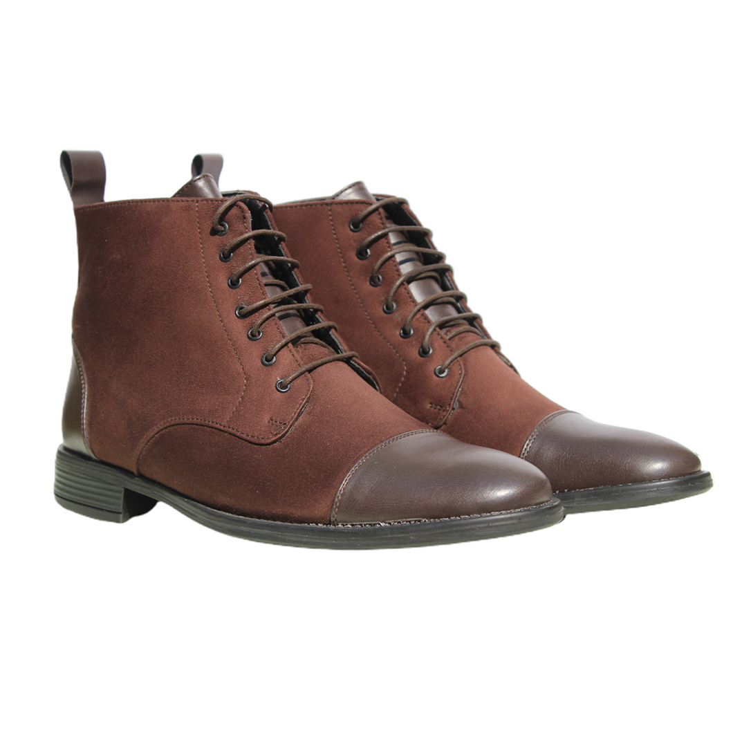 Brown High Ankle Military Boots