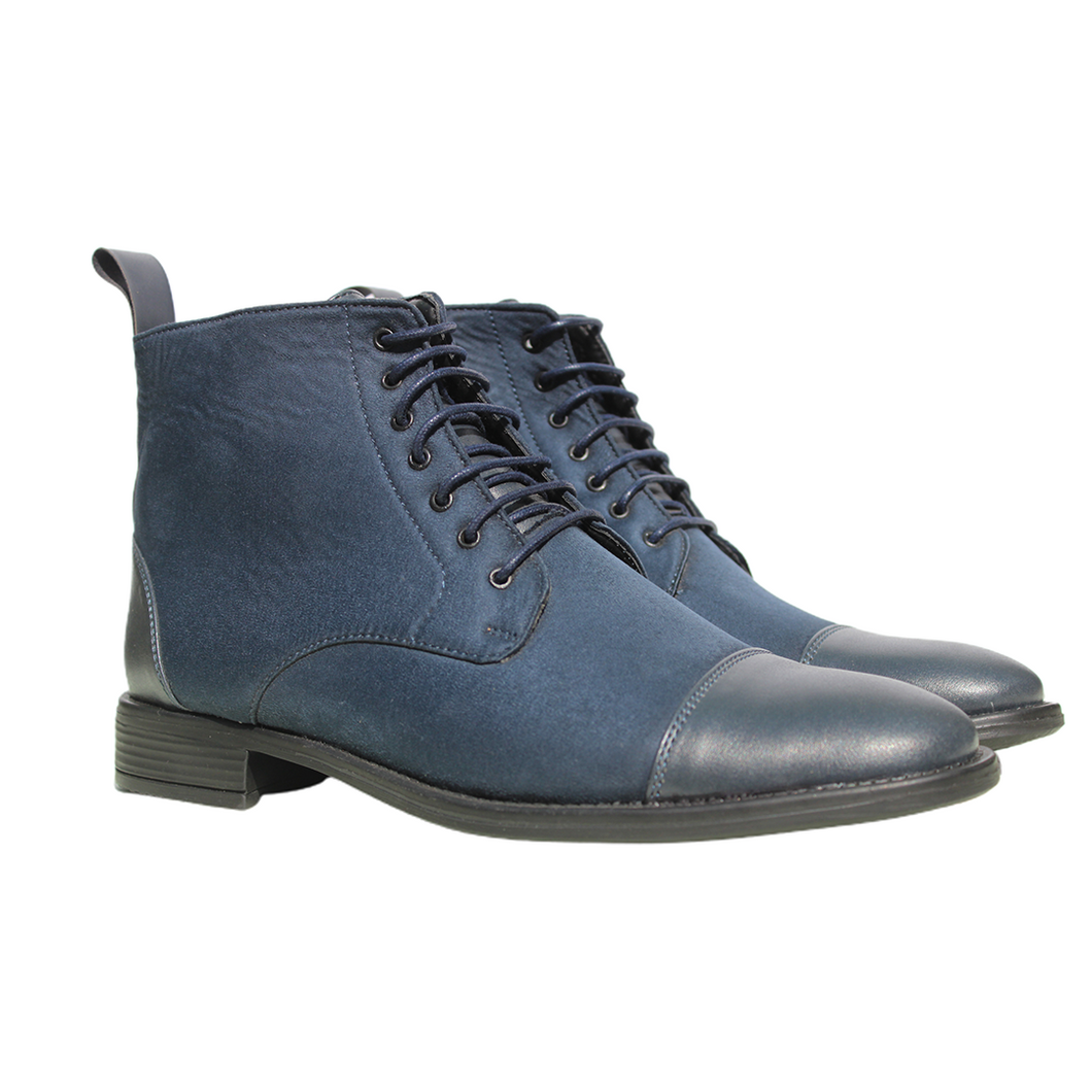 Blue High Ankle Military Boots