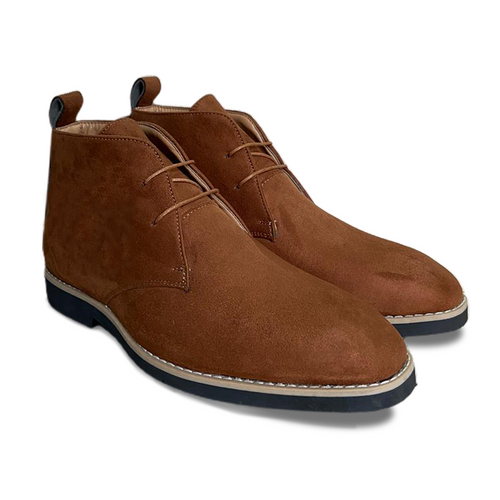 Brown Suede Low Ankle Chukka Boots