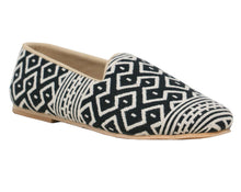 Black and White Fish Mesh Slip-Ons