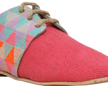 Neon Pink Triangular Lace-Ups