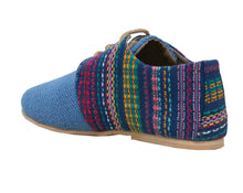 Blue Tone Woven Lace-Ups