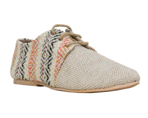 Light Beige Tone Rich Lace-Ups