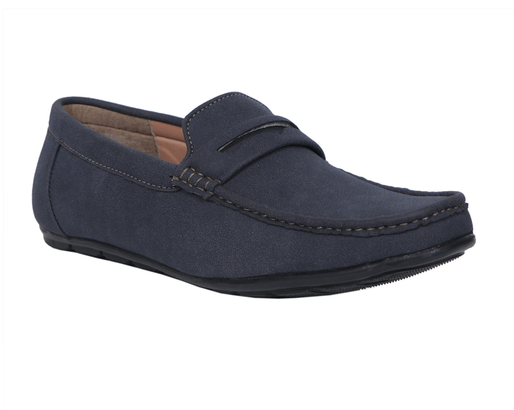 Blue Suede Men's Moccasins Shoes