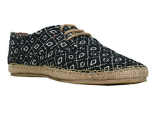 Rich Black Men's Derby Lace Up Espadrilles