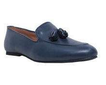 Navy Blue Men's Tassel Loafers Shoes
