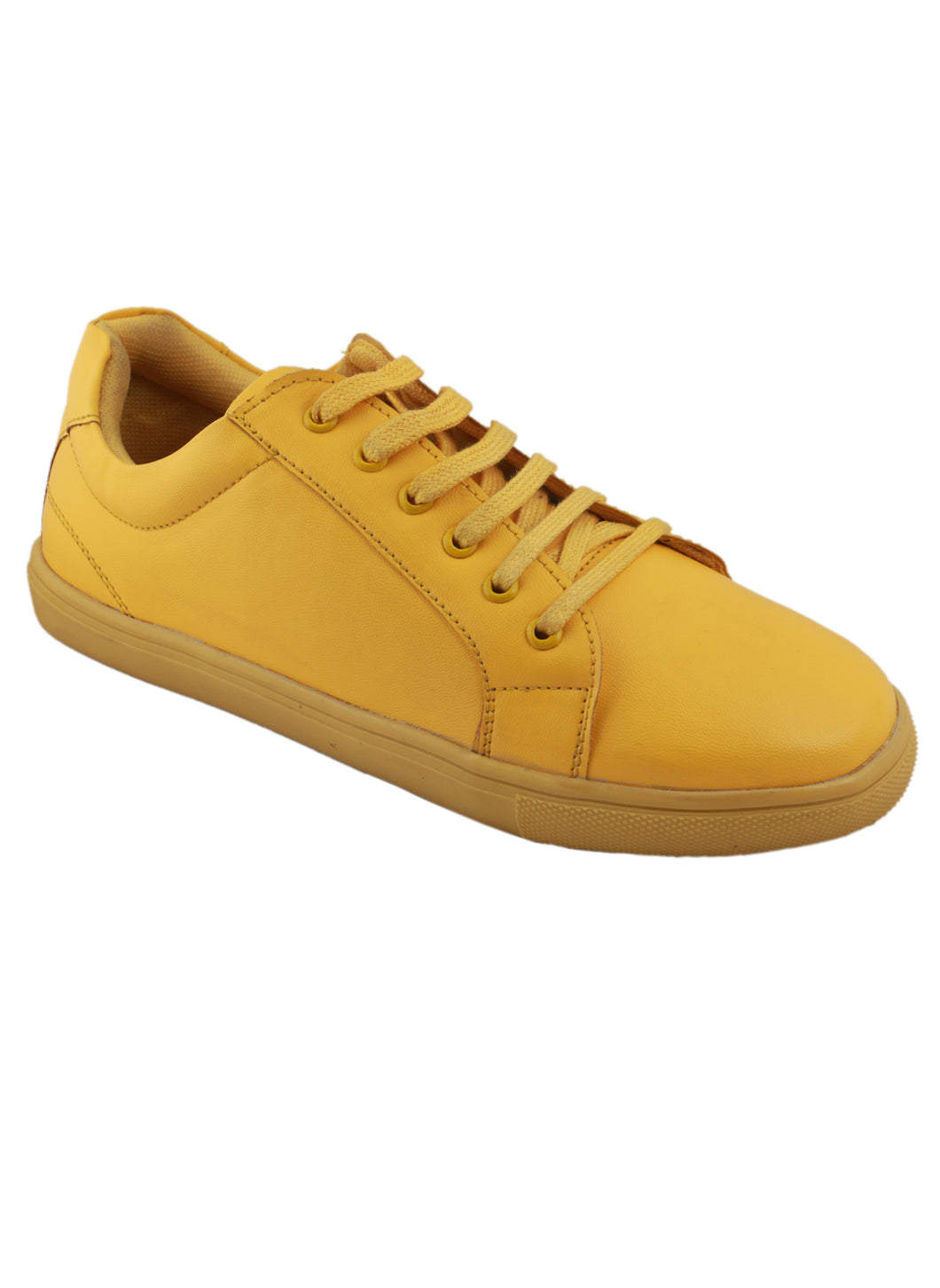 Yellow one tone neon sneakers