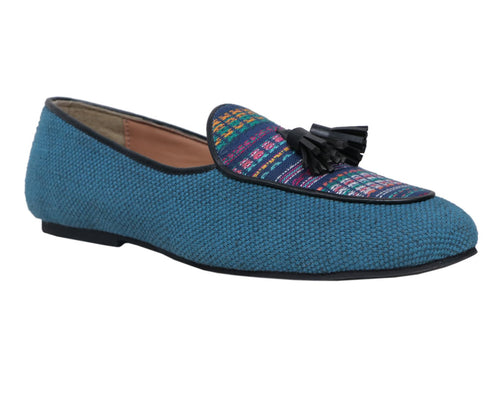Multicolor Men's Jacquard Tassel Shoes