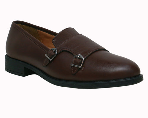 Chocolate Brown Double Strap Monks