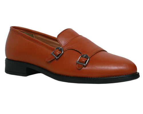 Tan Double Strap Monks