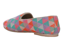 Neon Triangular Pattern Slip-Ons