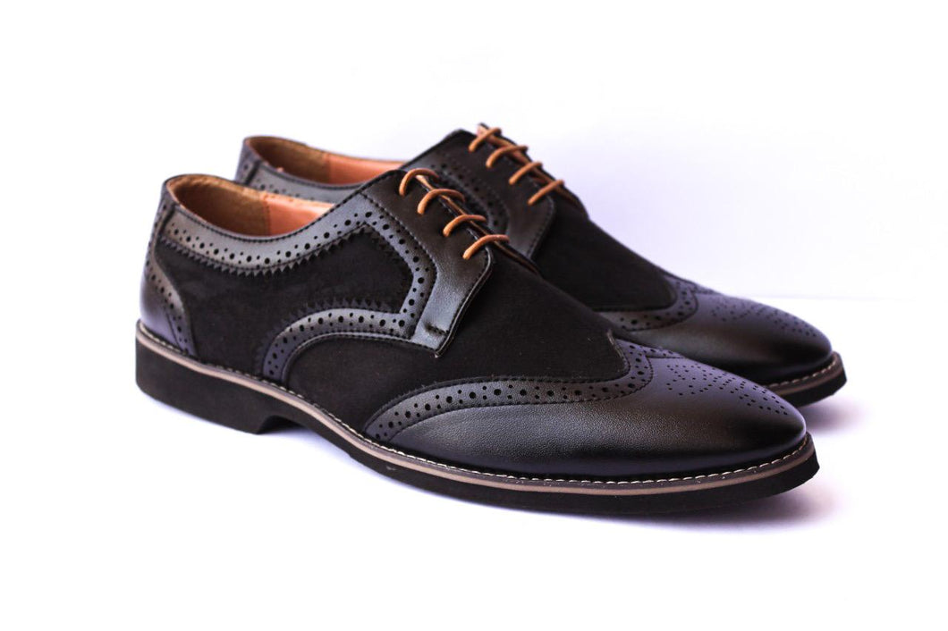 Grey Wingtip Men Brogues