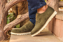Green Suede Captain Lace Ups
