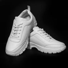 All White Running Sneakers