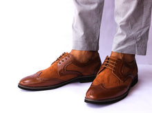 Tan Wingtip Men Brogues