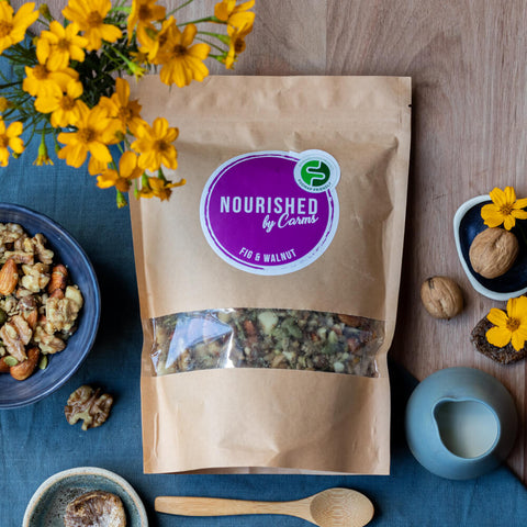 Fig Walnut Gluten Free Granola - Nourished by Carms