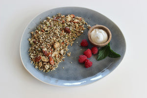 Fodmap Friendly 'Original' Granola on a plate  - Nourished by Carms