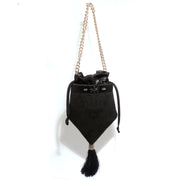 Mitria bucket bag - Black roses