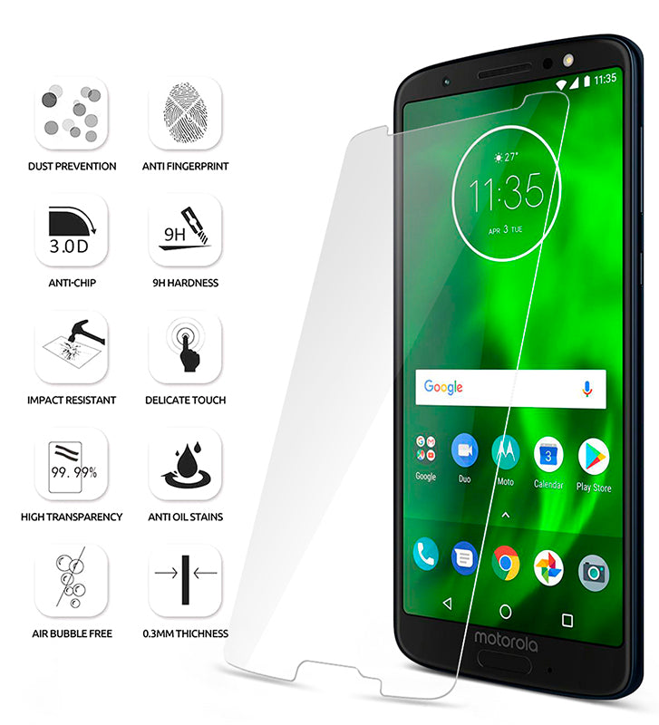 Tempered Glass - 2018 Motorola Moto G6 Screen Protector