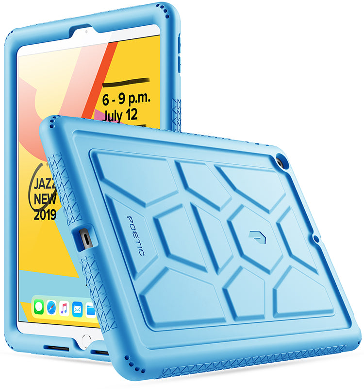 The Snowy Blue Wooden Dock Skin Set for the Apple iPad All Models Available