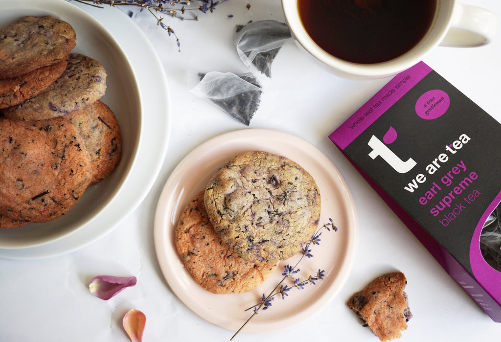 Lavender, Rose & Earl Grey Cookies