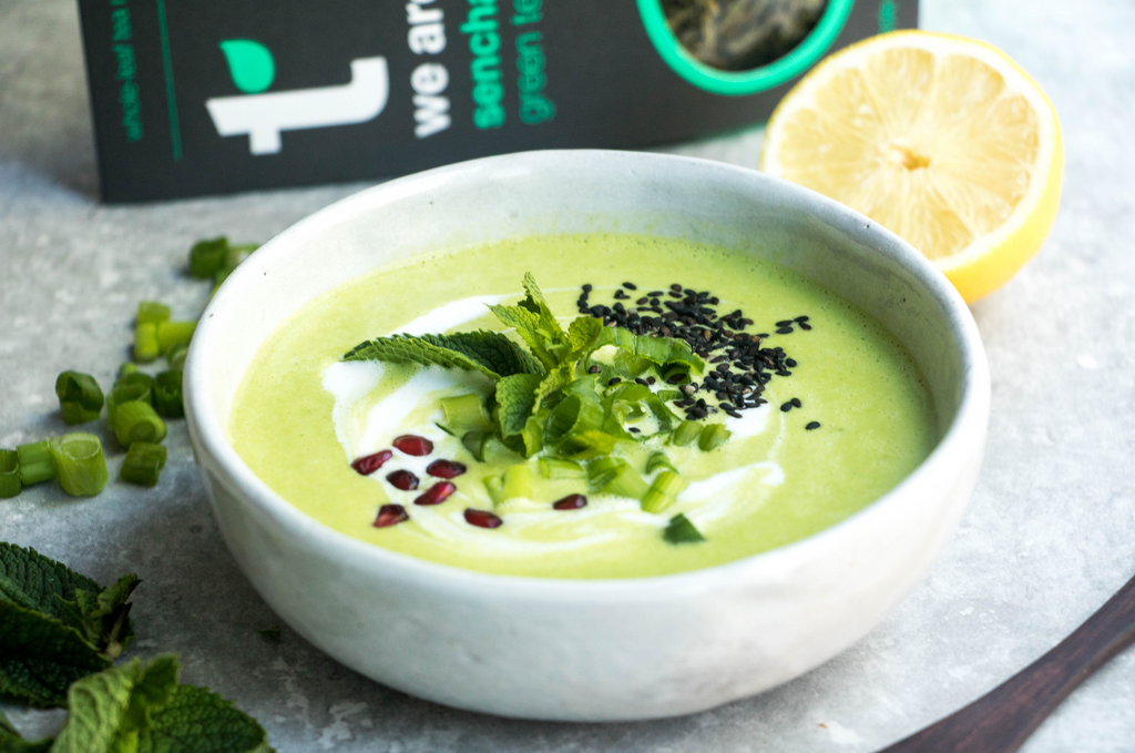 Creamy Pea & Green Tea Soup