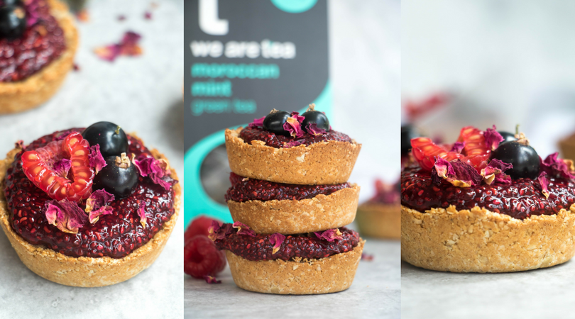 Mint Infused Chia Jam Tarts