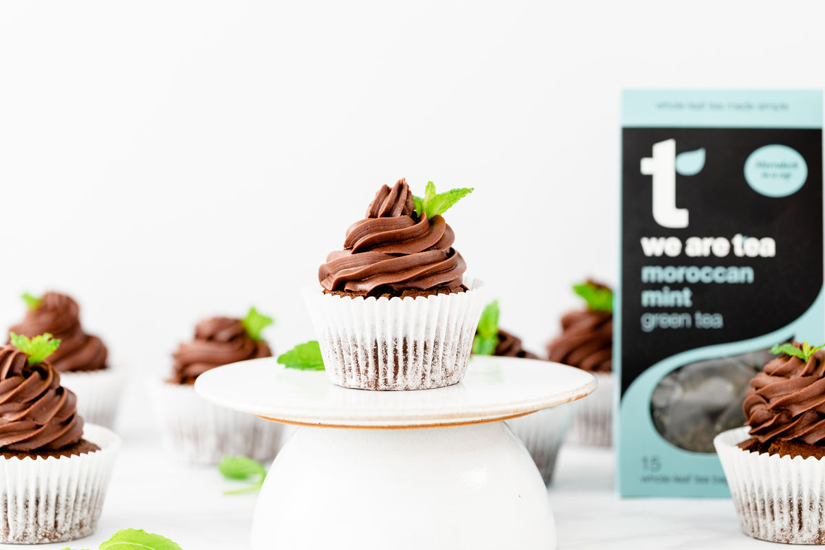 Moroccan Mint Chocolate Cupcakes