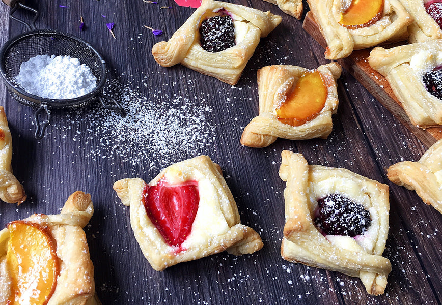 Strawberry & Blackberry Mini Pastries