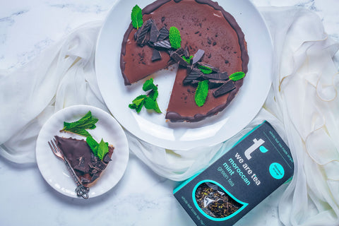 morrocan mint chocolate mousse pie