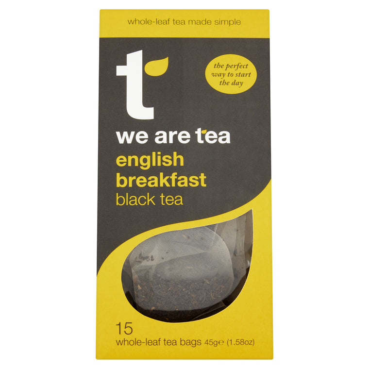 We Are Tea English breakfast black teabags