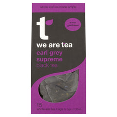We Are Tea earl grey whole leaf black teabags