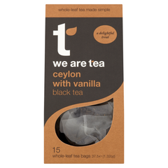 We Are Tea Ceylon with vanilla black tea