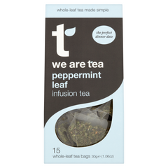 We Are Tea peppermint teabags infusion whole leaf
