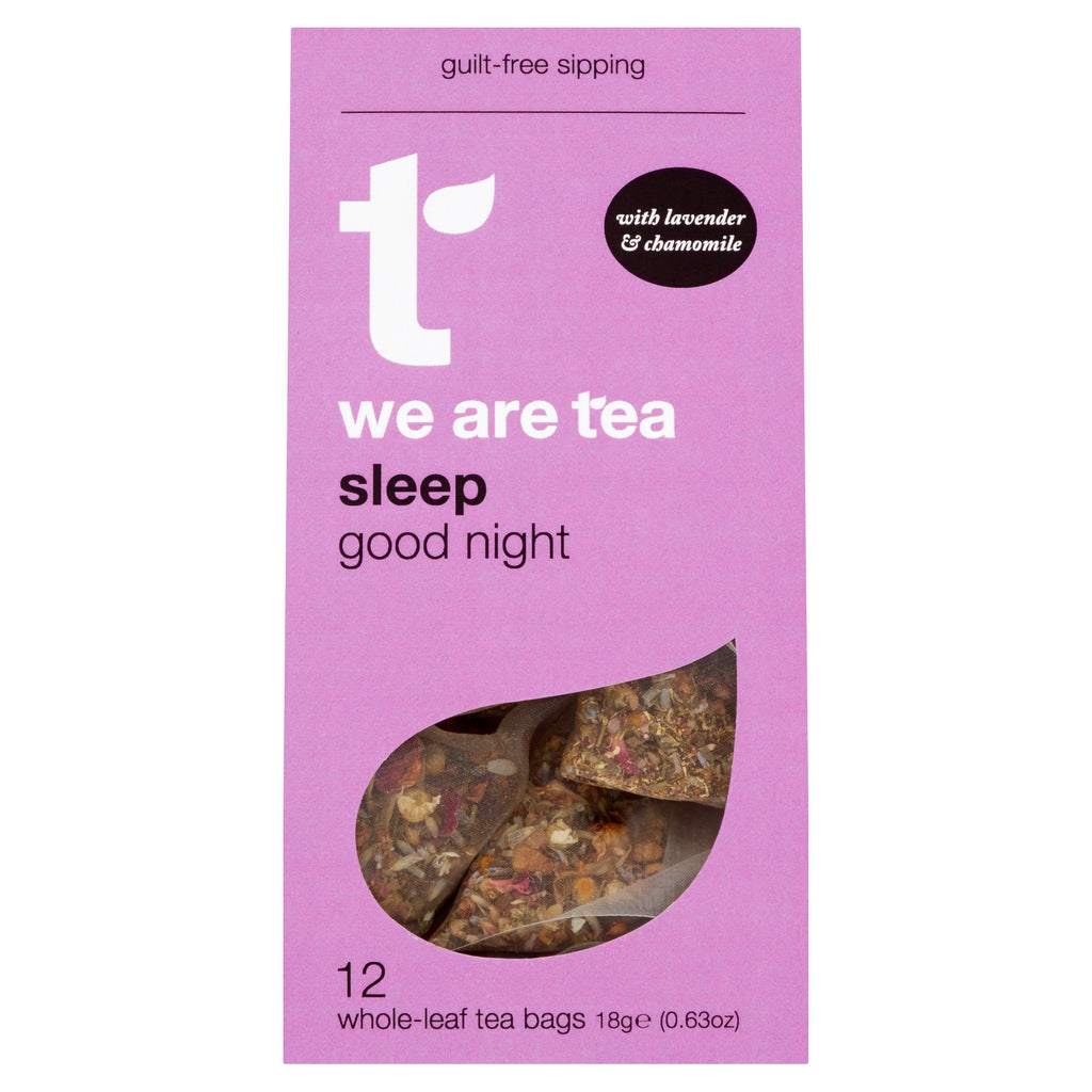 We Are Tea sleep super tea chamomile lavender rose holy basil caffeine-free tea