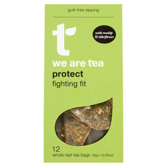 We Are Tea protect super tea caffeine free tea with echinacea rosehips elderflower olive leaf calendula petals hibiscus holy basil